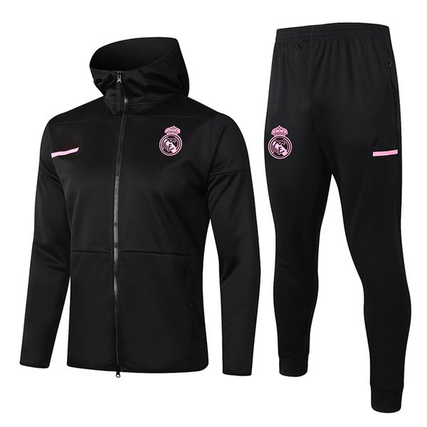 Real Madrid Black 2021 Hoodies Jacket