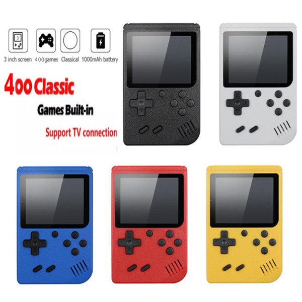 best selling Video Game Console 3 inch Screen 8 Bit Mini Pocket Handheld Gaming Player 400 free DHL shipping