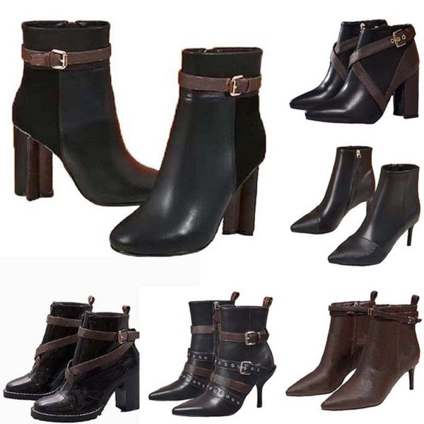 best selling Classics Exquisite Leather Women Boots High Heels Ankle Boots And Genuine Outdoors fashion boots martin cowboy booties hm011 L01