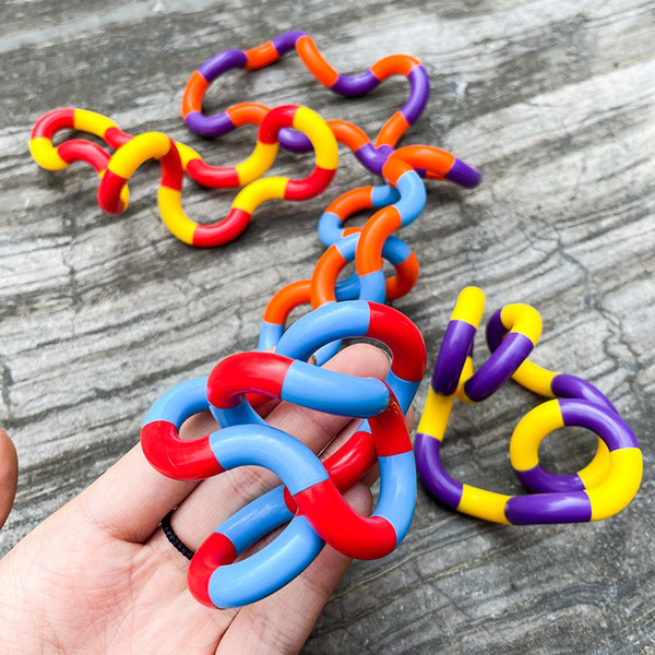 best selling Training Twine Fidget Toys Adult Relax Therapy Stress Relief Hand Sensory Decompression Twisted Winding Toy Finger for Kids Autism Dexterity