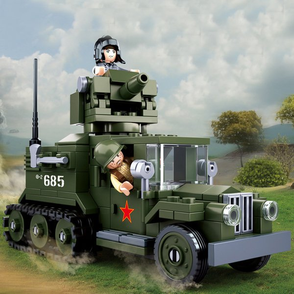 best selling Army 243 you WW2 gaz half runway truck SWAT weapon soldier Construction Group weapons Marine Corps
