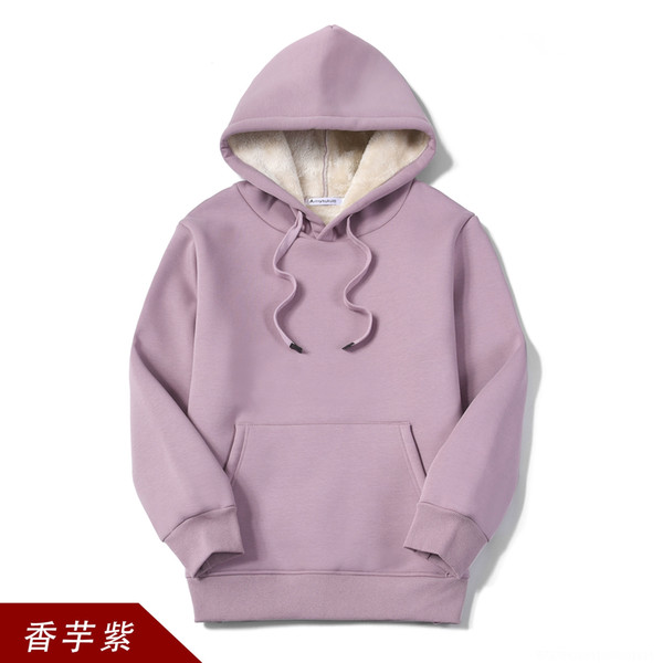 Wy202 Cashmere Hooded Taro Color Sweater