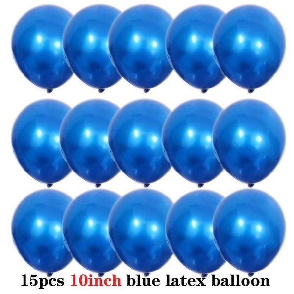 15Pcs 10inch blue
