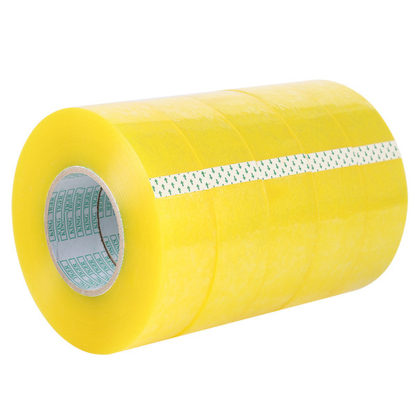 best selling 4 rolls Carton Sealing Clear Packing Shipping Box Tape- 2 Mil- 2inch x 33 Yards Office Film Adhesive Tape Gift Ribbon Strapping