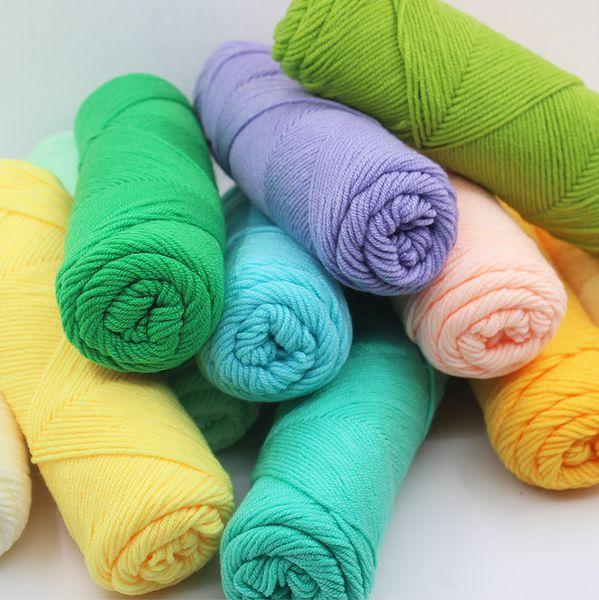 best selling Wholesale Bamboo Baby Soft Yarn Crochet Cotton Knitting Milk Cotton Yarn Knitting Wool Thick Yarn katoen garen lanas para tejer