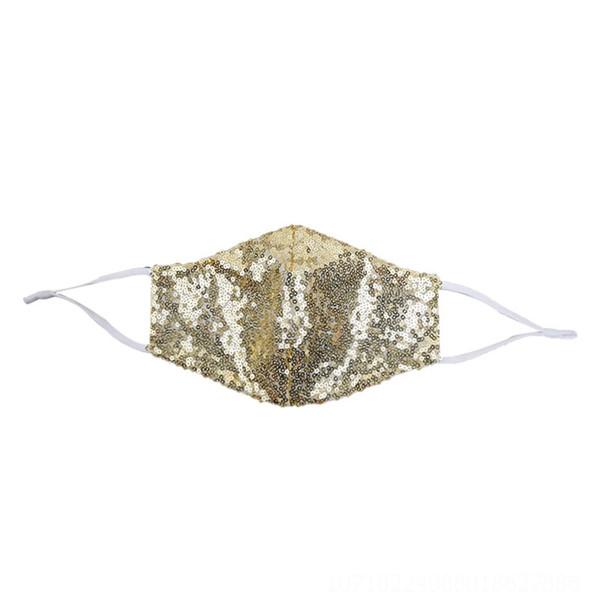 Masque à paillettes d'or - taille unique # 74903