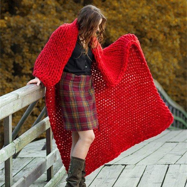 Coperta di nastro a maglia - Scarlet