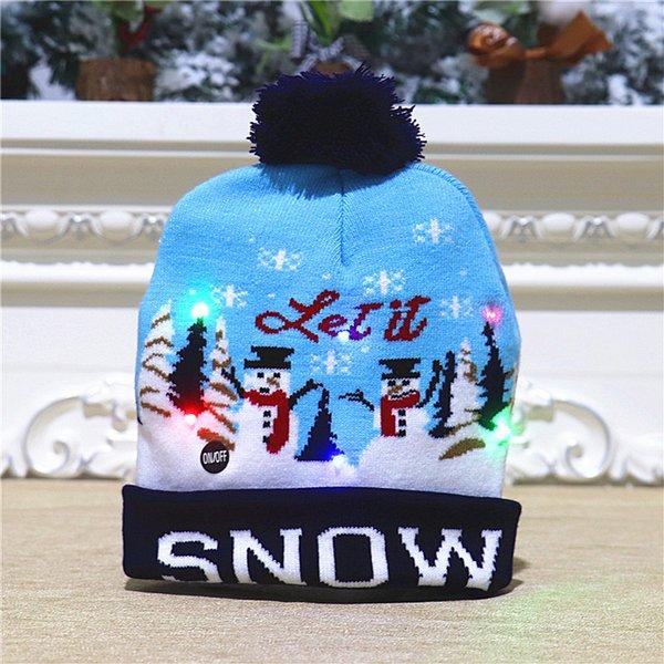 针织 帽 【黑色 雪人 款】