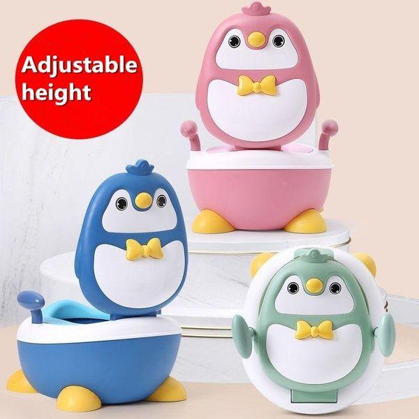 top popular Ajustable Height Baby Boy Children's Pot Cute Penguin Baby Potty Training Seat Portable Toilet for Babies Girls Infantil LJ201110 2021