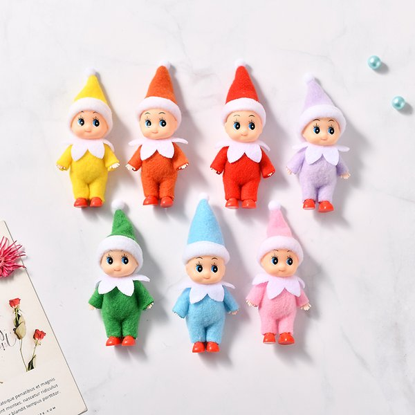 best selling 100 PCS Great Quality Baby Elf Doll with feet shoes Christmas Baby Elf Dolls with Movable arms and legs Baby Toys Kids Elves