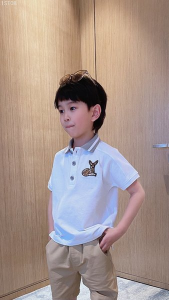 best selling New Kids Boys Girls T Shirt 2021 Summer Fashion Children Boys turn-collar Short-Sleeved Toddler Breathable Tees Cotton Clothing tops