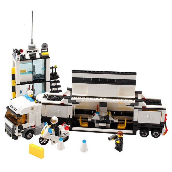 top popular 511pcs Police Station Model Building-block Toys Compatible with inglys DIY Educating Children Christmas Gifts 2020