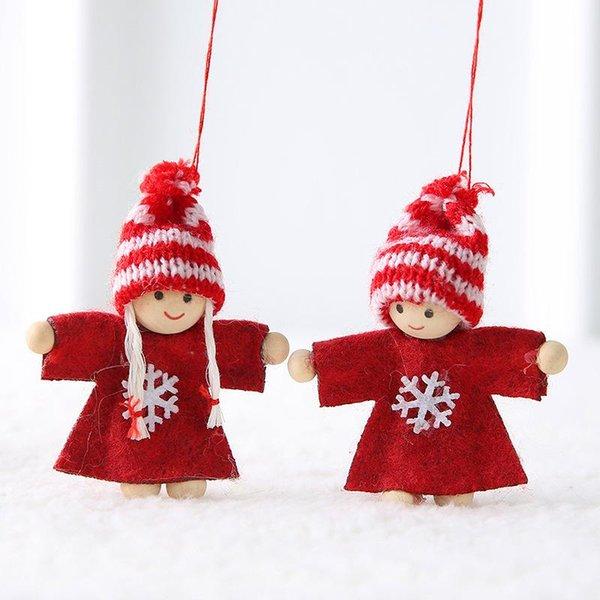 2 pcs-red snow angel