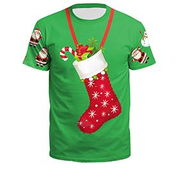 Green christmas stocking-SB121-006