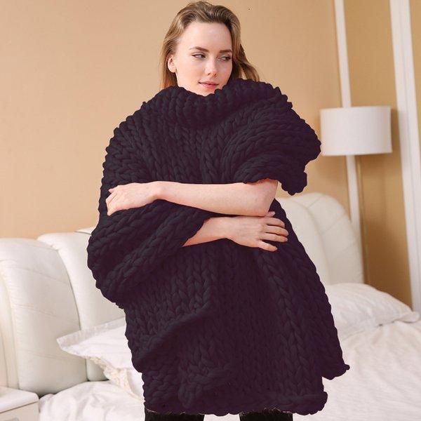 Coperta a nastro a maglia - Nero