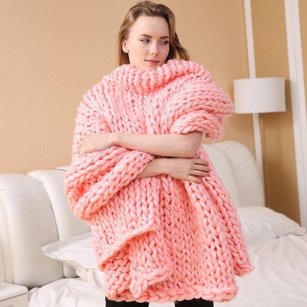 Coperta a nastro a maglia - rosa