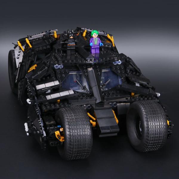top popular Free shipping 1909pcs Educational Jigsaw Car Assembly Building Blocks DIY Steam Stem Toy Construction Engineering Kits Batmobile 2020