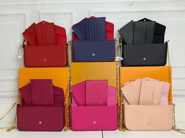 top popular Classic New 2021 handbag Bag Women embossing Leather Handbags Womens Shoulder crossbody VINTAGE Clutch Tote Messenger Shoulder Bag with box 2021