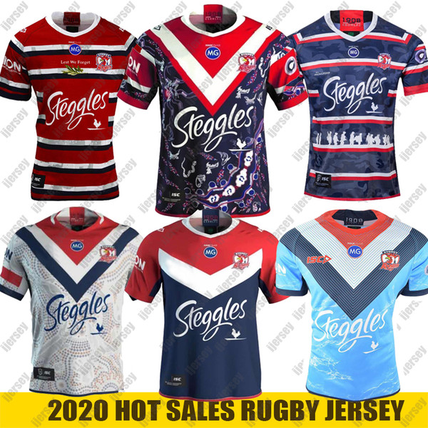 best selling 2020 Australia Sydney Rooster Rugby Jersey Mens replica Indigenous Rugby Jersey nrl rugby league jerseys S-5XL