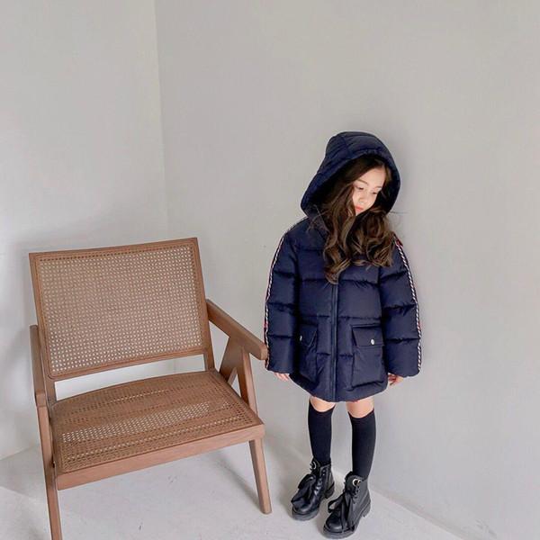 top popular New Arrive Kids Long Coat Winter Baby Boys Girls Down-padded Parka Children's Thicken Warm Long Jackets Toddler Outerwear 2021