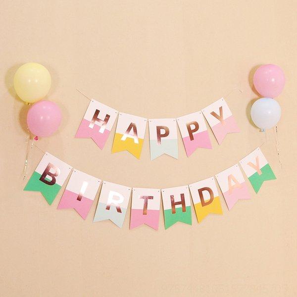 Bandera de cola de pescado de cumpleaños de polvo de dulces