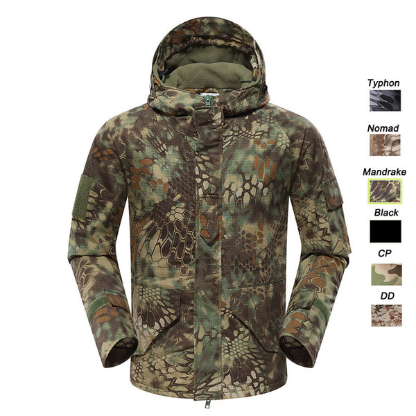 best selling Outdoor Clothing Woodland Hunting Shooting Coat Tactical Combat Clothing Camouflage Windbreaker G8 Outdoor Hoody Jacket P05-213