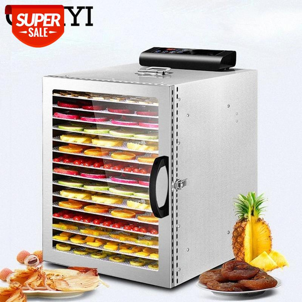best selling CUKYI 16 Layers Automatic Fruit Dryer Dried Fruit Machine Food Dehydrator Commercial Household Vegetable Herbal Flower Tea EU UK #qH36