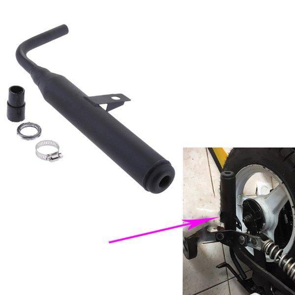Системы Глушинки Мотоцикл Глушитель Выхлопные глушительные трубы для Yamaha PW50 PW 50 глушитель глушительной глушителя Заменяет существующий выхлоп 320 мм черный