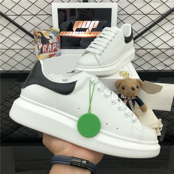 best selling Top Quality Fashion Men Women Lace Up Black Velet Genuine Leather Platform Shoes Womens Outdoor Flat Luxurys Designe Casual Shoes With Box