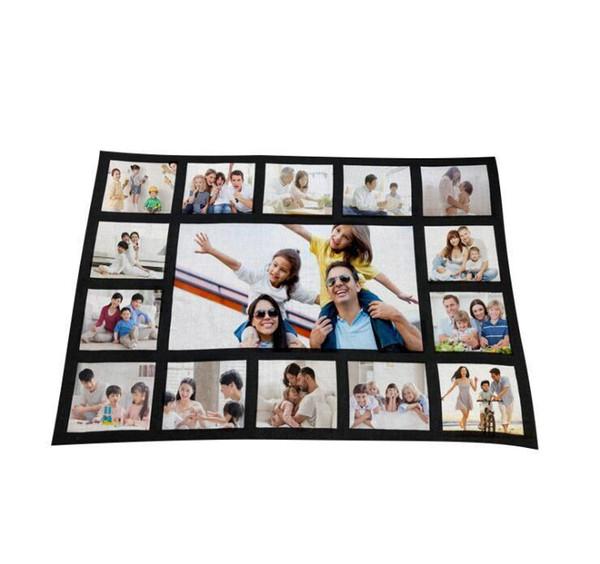 top popular Blankets Sublimation Thermal Fleece Blanket Heat Print Fabric Mat Diy Blank Carpet 9 15 20 Grid Plaid Blanket 125*15 bbykHo xmh_home 2021