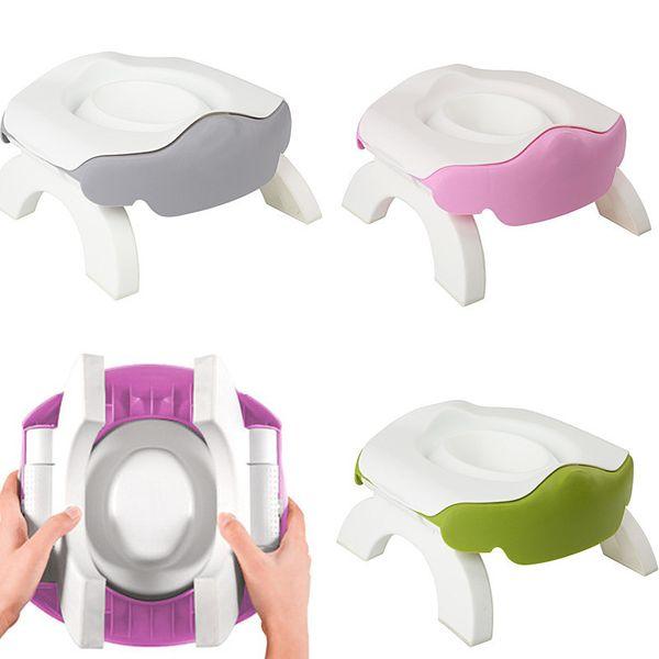 best selling Thicken Portable Baby Outdoor Travel Pot Boy Girl Foldaway Toilet Basin Potty Travel Baby Potty Kid Training Toilet Seat LJ201110