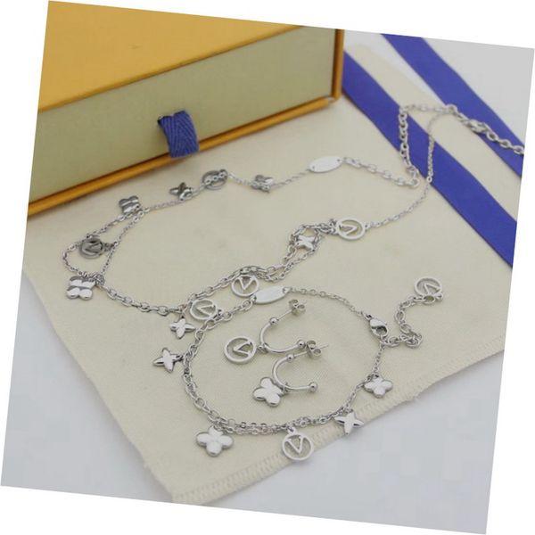 Белое золото (серьги + браслет + ожерелье)