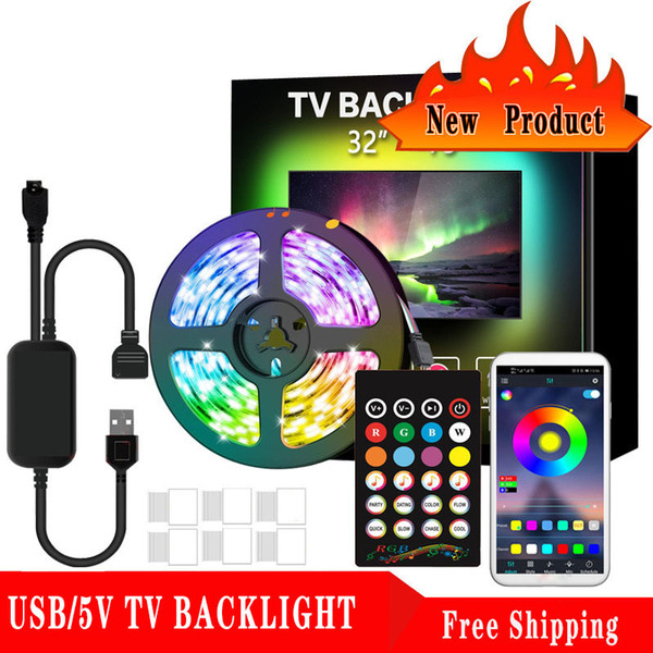 best selling Ultra bright Light LED TV Backlight 2m USB RGB Casing Patch Decorative Light Bar 5050 Flexible Light Bar