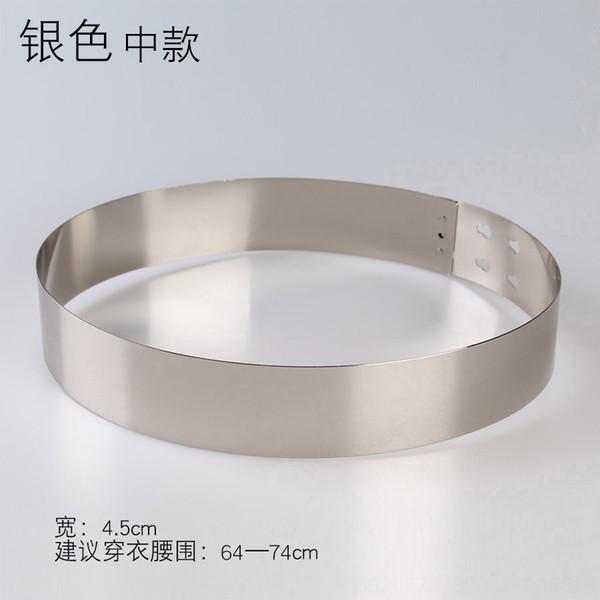 Anchura: 4,5 cm Plata Medium
