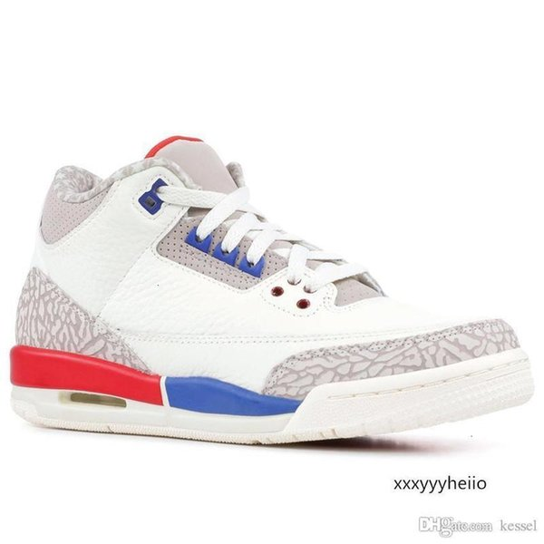 top popular 3 Men Basketball Shoes Charity Game Black White Cement Cyber Monday Katrina Quai 54 Fire Red JTH Tinker Jumpman 3s Man Sports Sneakers 2021