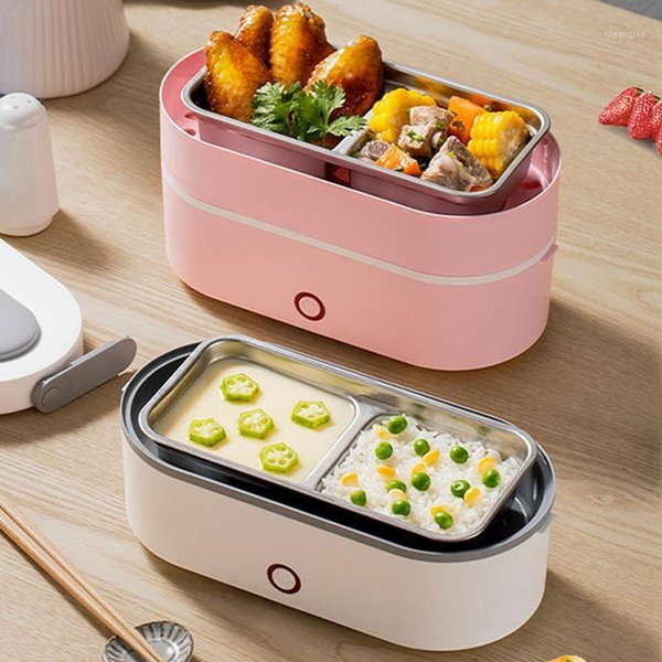 top popular Stainless Steel Insulated Lunch Box Office School Multi-layer Lunch Box Tableware Bento Container Storage Breakfast Boxes1 2021