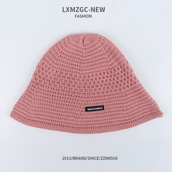 Мисс ткань этикетки бассейна вязаная шляпа - розовый