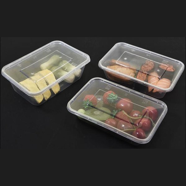 best selling Take 500 650 750ml 1000ML Disposable Box Out Case Rectangle Shape Container for Cake Food Holder 300pcs lot fr