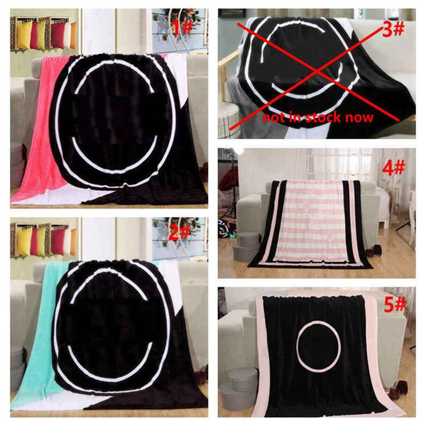 best selling 130*150cm Letter Blanket Soft Beach Towel Blankets Air Conditioning Rugs Comfortable Carpet fashion 4 color 20pcs