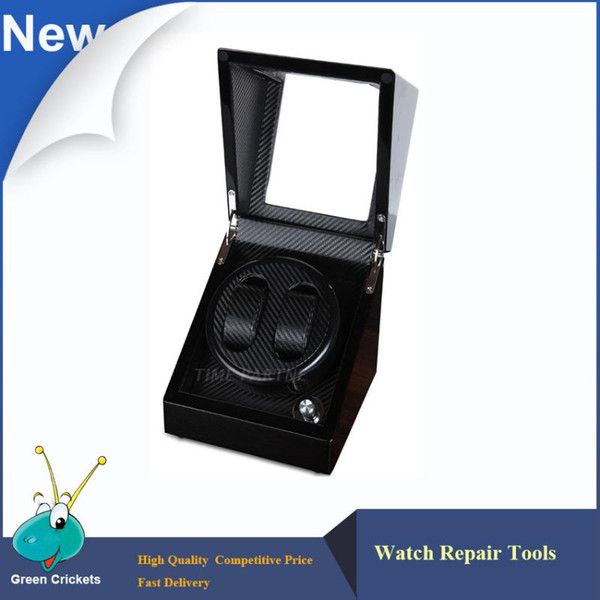 best selling Ultra Luxurious Carbon fiber 2+0 Silent motor Wooden automatic Watch Winder,mechanical watches storage winder box