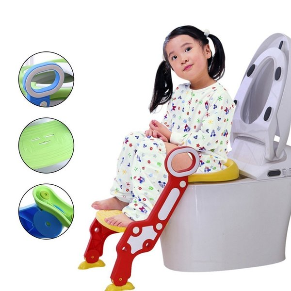 best selling Baby Toilet With Adjustable Ladder Baby Potty Training Seat Infant Potty Chair Kids Folding Toilet Trainer Seat Pot For Children LJ201110