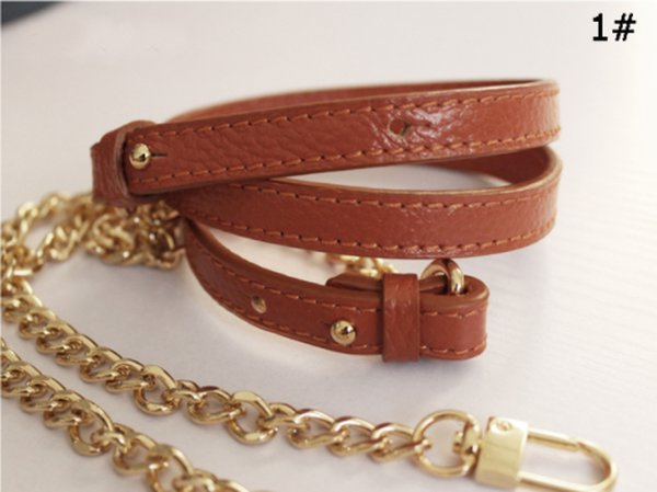 best selling Genuine Leather Luxury Genuine Leather+ Chain Bag Strap 95-123CM Adjustable Crossbody Strap Replacement Bag Accessories