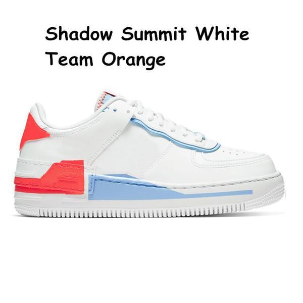 22 Sommet de l'ombre de l'équipe Blanc Orange 36-40