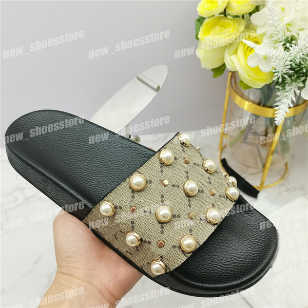 top popular Best Quality Mens Womens Slippers Sandals Unisex Summer Beach Causal Pearl Flip Flops Slippers Sandal Shoes 2021