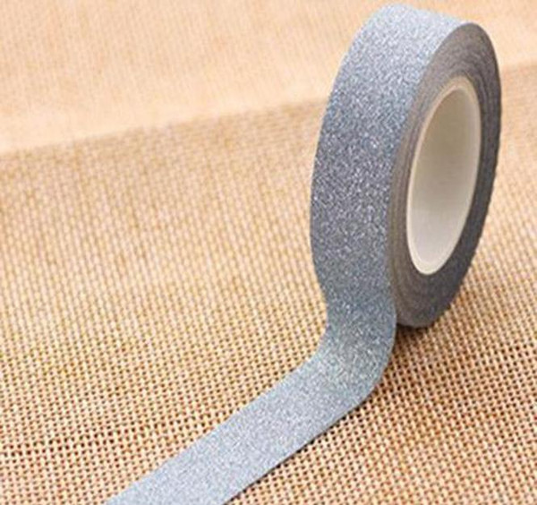 top popular New Arrival Adhesive Silver Golden Glitter Washi Tape Scrapbooking Christmas Party Kawaii Cute Decorative Paper Cr wmtgRM dh_garden 2021