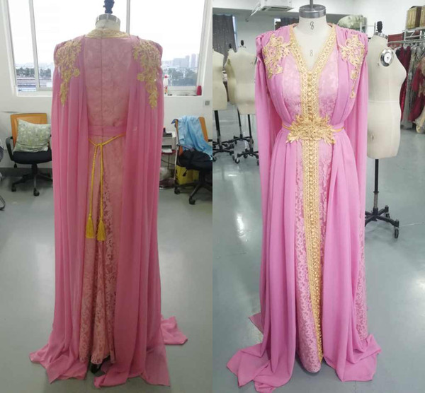 top popular 2021 Real Pics Luxury Aline Chiffon V-neck Evening Dresses Appliques Lace Ribbon Long Custom Made Party Gown 2020