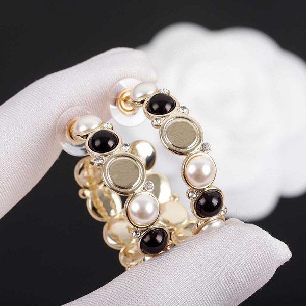 best selling 2021 Top quality drop half earring with black and white shell for women wedding jewelry gift free shipping PS3500