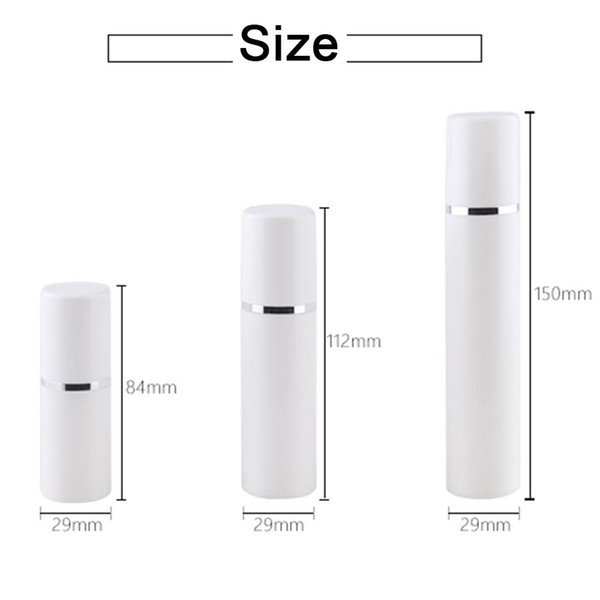 best selling 15 30 50ML Empty refillable white high-grade airless vacuum pump bottle Plastic cream lotion Container Tube Travel Size EEF3935