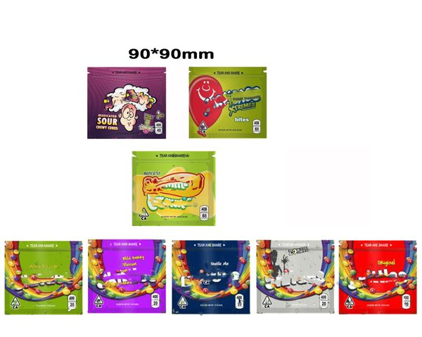 best selling Empty 400MG Medicated Sour Skittles Rainbow Gummy bags Original Seattle Mix ZOMBIE Wild Berry Flavour Rainbow Skittles Gummies Packaging