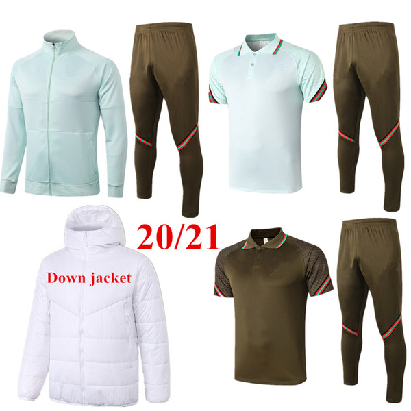 top popular Thai quality 2020 B.FERNANDES Soccer Jacket Survetement Training Suit 20 21 BERNARDO Down Jacket Tracksuit Rúben JOAO FELIX Jogging Sets XXL 2021
